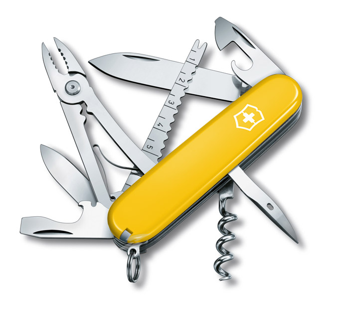Angler Yellow Swiss Army Knife