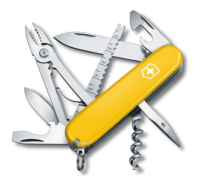 Angler Yellow Swiss Army Knife