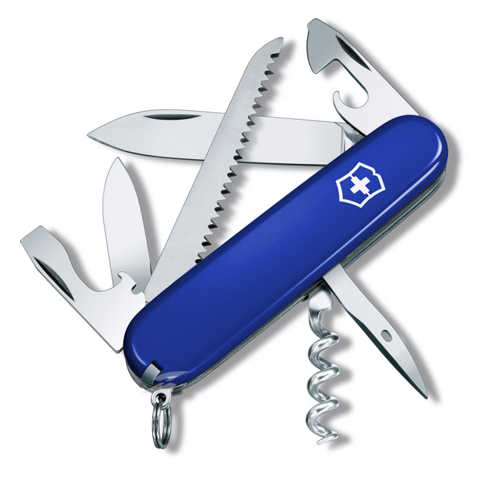 Camper Blue Swiss Army Knife