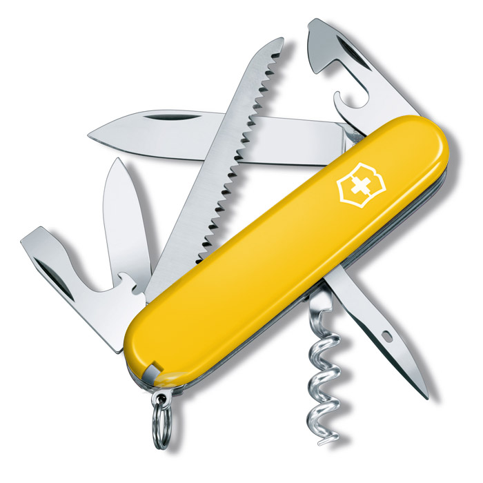 Camper Yellow Swiss Army Knife