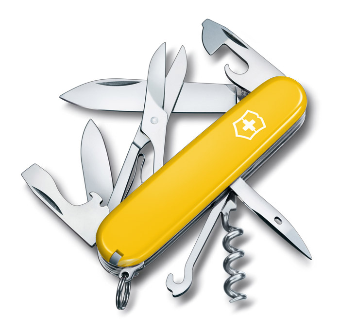 Climber Yellow Swiss Army Knife