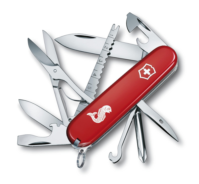 Fisherman Red Swiss Army Knife