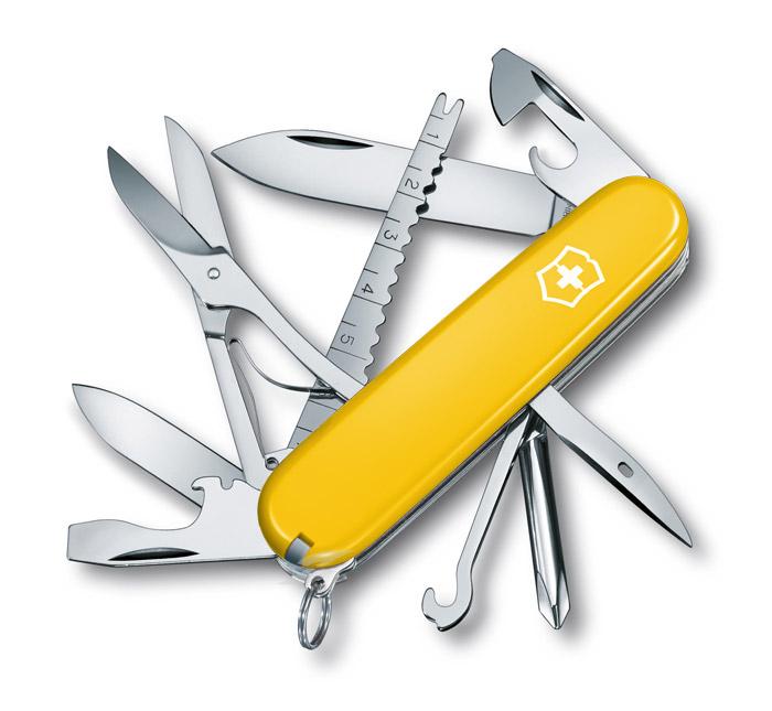 Fisherman Yellow Swiss Army Knife