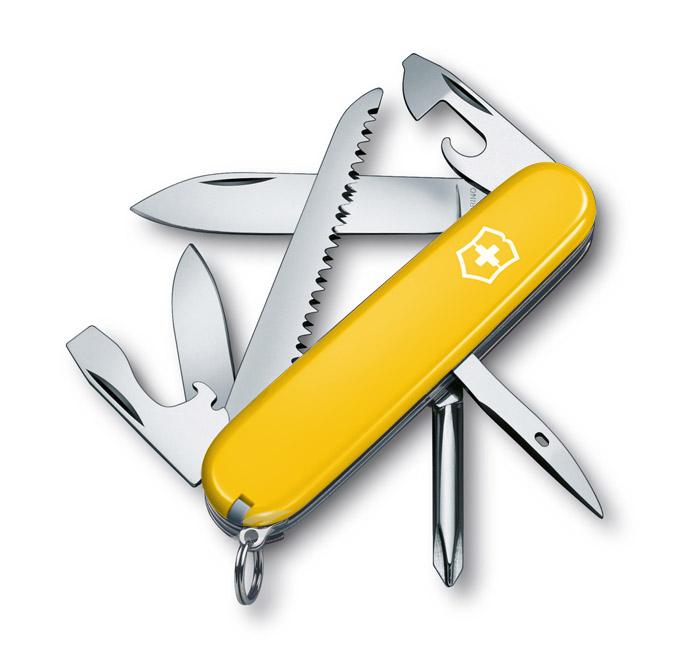 Hiker Yellow Swiss Army Knife