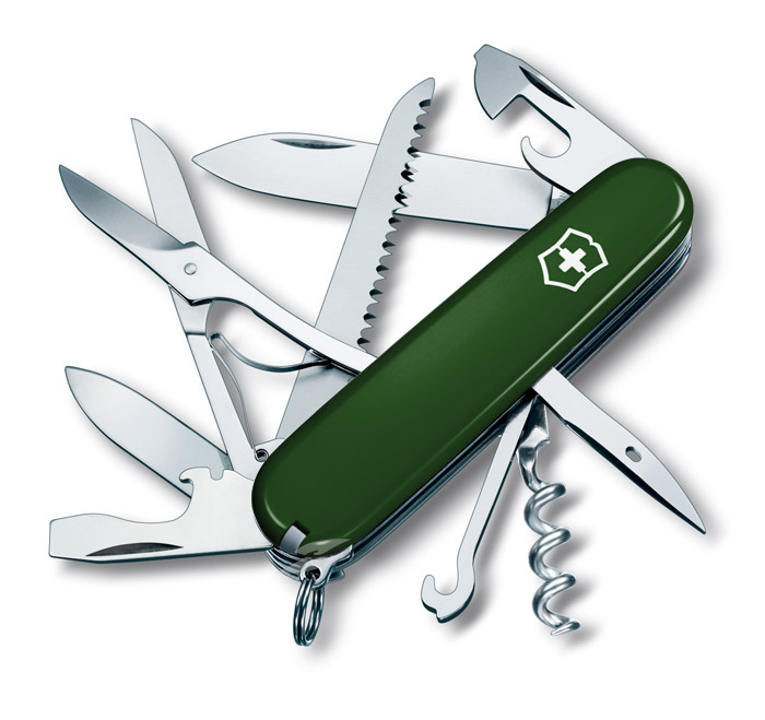 Huntsman Green Swiss Army Knife