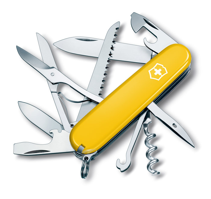 Huntsman Yellow Swiss Army Knife