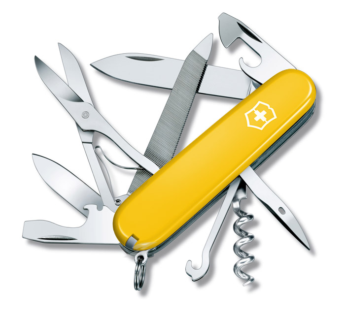 Mountaineer Yellow Swiss Army Knife