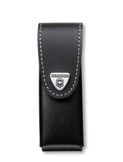 1-3 Layer Black Leather Belt Pouch XL