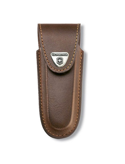 2-4 Layer Brown Leather Belt Pouch