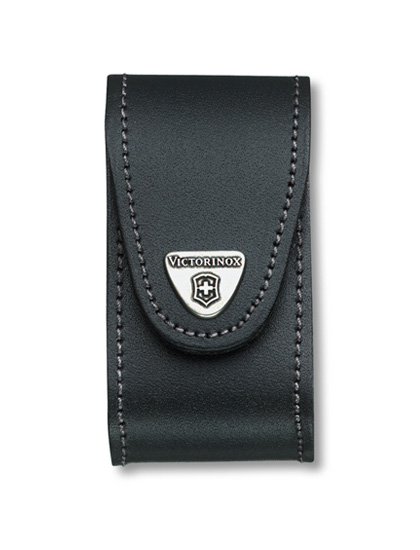 5-8 Layer Black Leather Belt Pouch