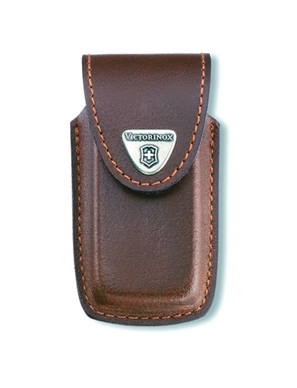 5-8 Layer Brown Leather Belt Pouch