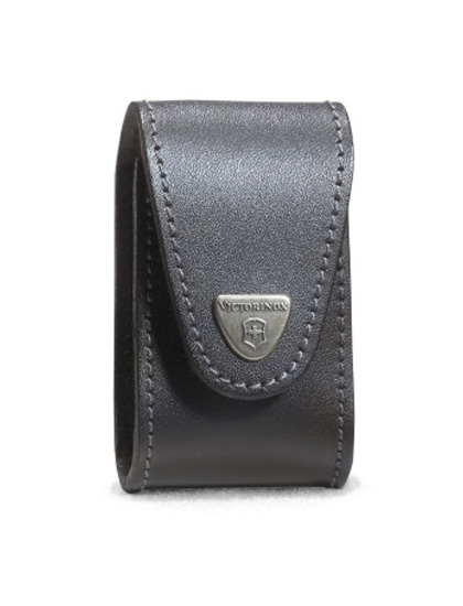 Black Leather Pouch For Swisschamp Xavt Swiss Army Knife