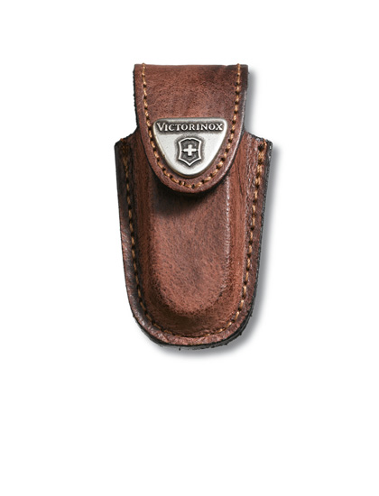 Brown Leather Belt Pouch Small