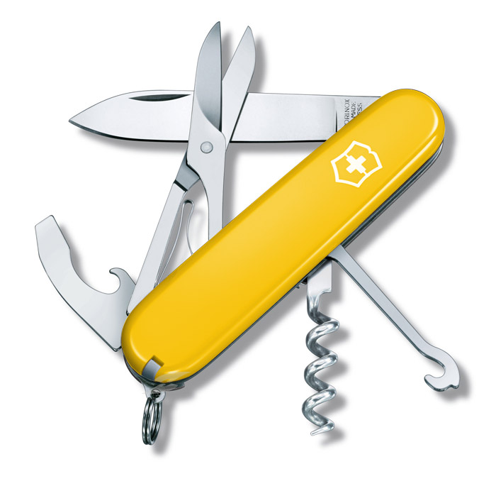 Compact Yellow Victorinox Swiss Army Knife