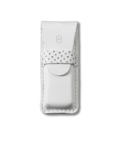 White Leather Tomo Pouch Small