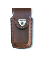 5-8 Layer Brown Leather Pouch