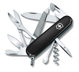 Deluxe Tinker Black Swiss Army Knife